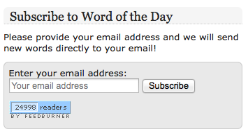 Word of the Day subscribers count reaches 25,000